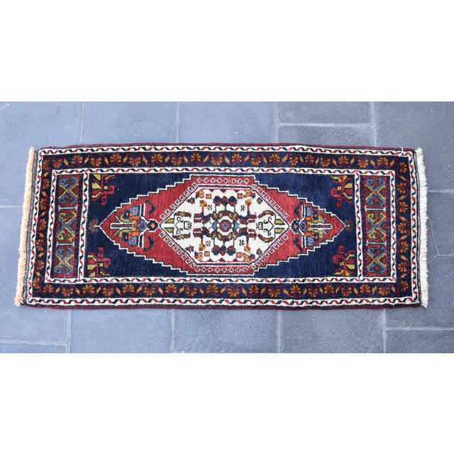 Vintage Turkish Oushak Handmade Rug - 1′7″ × 3′9″ - Image 5 of 6