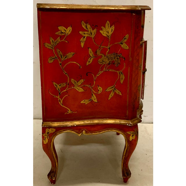 Italian Hand Painted Chinoiserie Chest For Sale - Image 4 of 13
