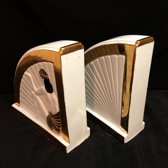 Vintage Art Deco Egyptian Revival Bookends For Sale In Houston - Image 6 of 10