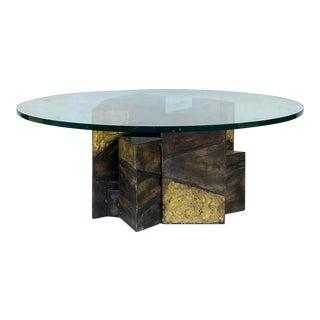 1970s Paul Evans Welded Steel Coffee Table For Sale