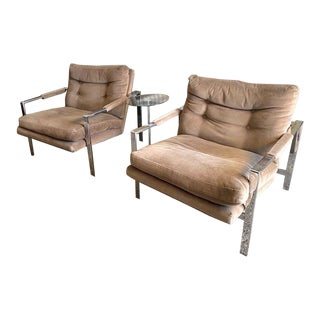 Iconic Milo Baughman Danish Lounge Chairs by Thayer Coggin - a Pair For Sale