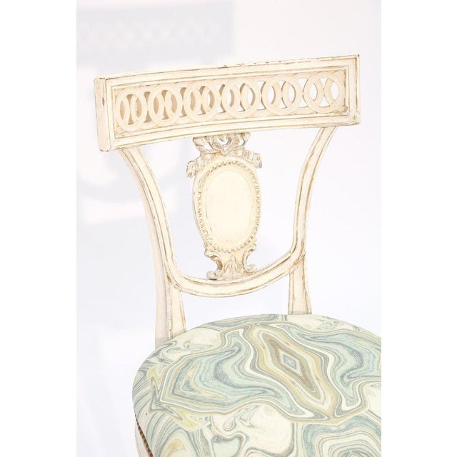 Single Painted Italian Classical Style Side Chair For Sale In West Palm - Image 6 of 8