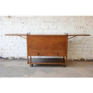 Mid-Century Modern Bar Cart by Wormley for Dunbar