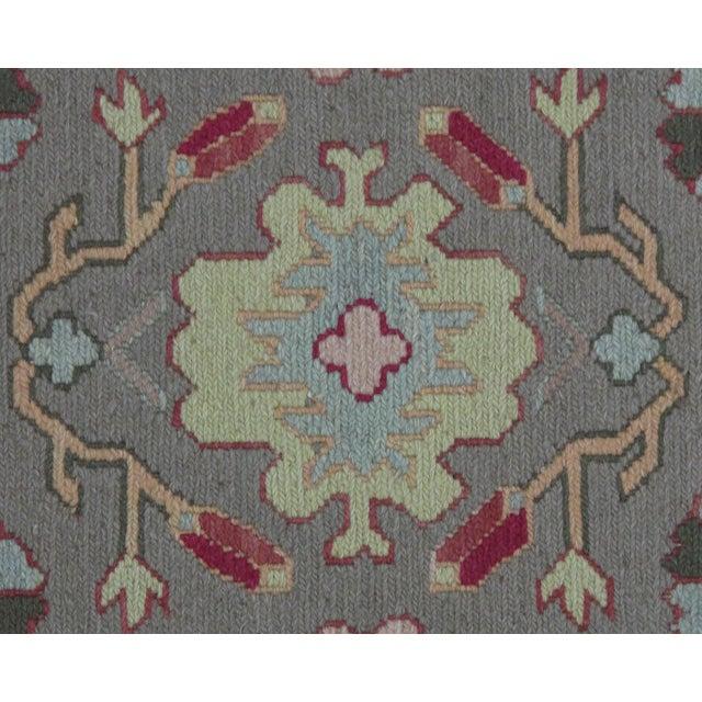 Green Soumak Design Hand Woven Wool Rug - 3′ × 5′ - Image 2 of 5