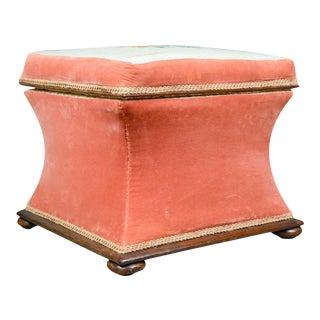 1870s Victorian Needlepoint Storage Ottoman Footstool