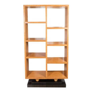 American Art Deco Style Illuminated Presentation Shelving Unit or Bookcase For Sale