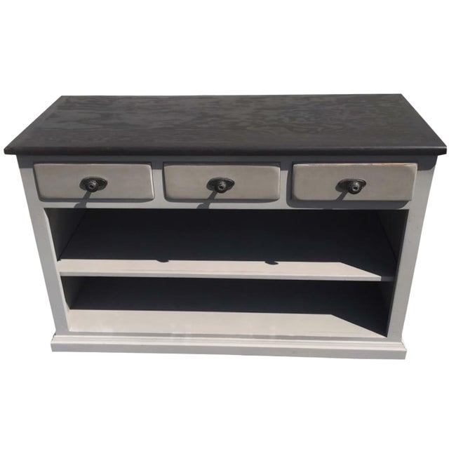 Windsor Gray Curio Cabinet For Sale