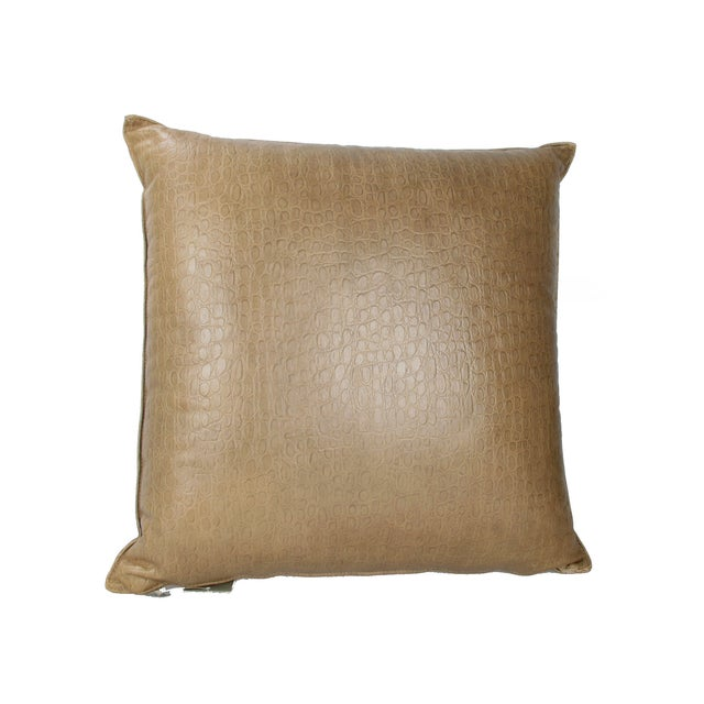 Armani Casa Original Armani Casa Leather Pillow For Sale - Image 4 of 8