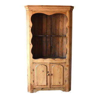 19th-Century Antique Irish Corner Cupboard For Sale