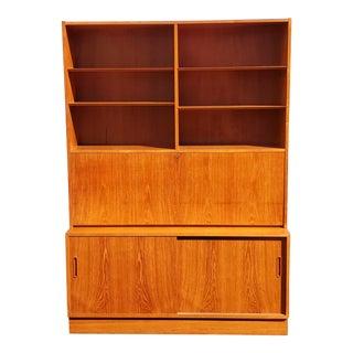 1960s Poul Hundevad & Co Ulfborg Teak Desk Credenza For Sale