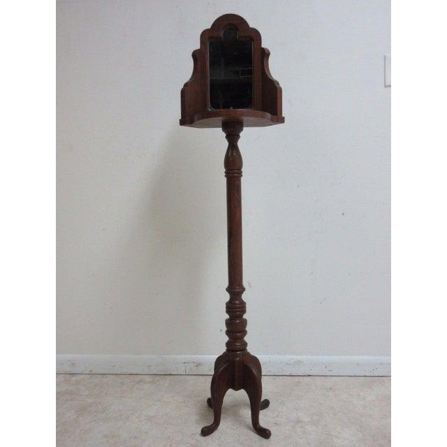 Vintage Pine Carved Pedestal Shaving Mirror Stand Cheval - Image 2 of 4