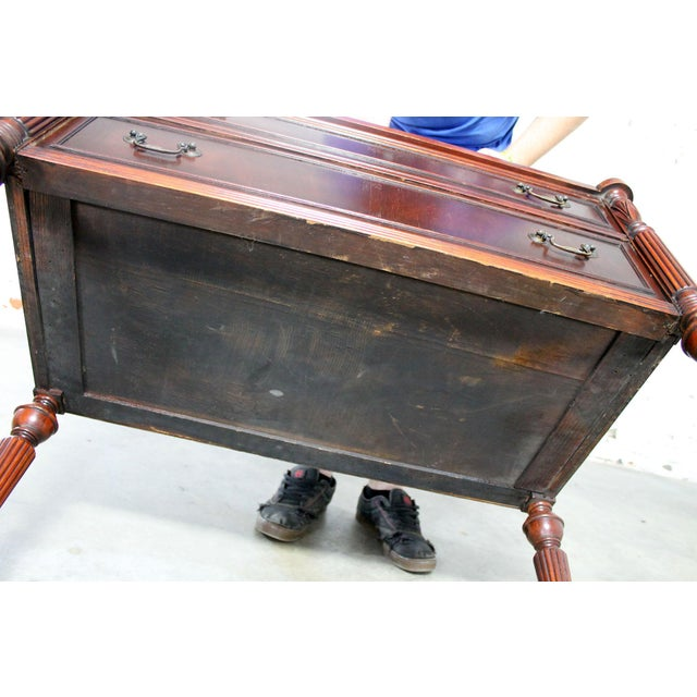 Classic Sheraton Federal Style Mahogany Server in the manor of Salem Cabinetmakers For Sale - Image 11 of 11