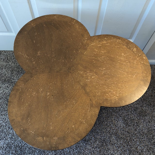 What luck to find this Mid-Century Modern shamrock-shaped nesting table crafted by Lane Furniture. Admire its beautiful...