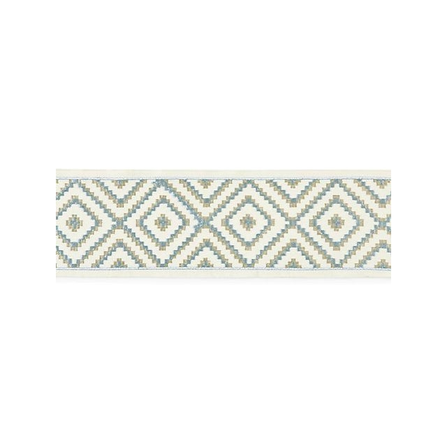 Transitional Scalamandre Medina Embroidered Tape, Mineral For Sale - Image 3 of 3