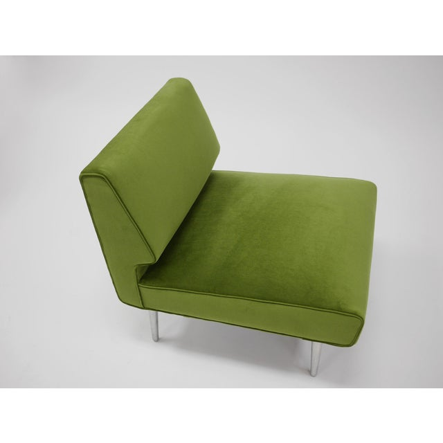 Mid-Century Modern Pair of Lounge Chairs by Edward Wormley for Dunbar For Sale - Image 3 of 11