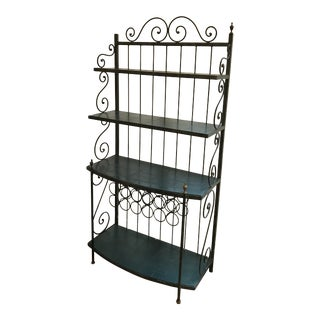 Vintage Wrought Iron Etagere For Sale