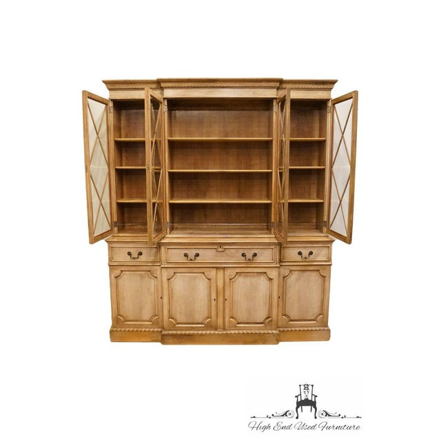 """Saginaw Saginaw Furniture Country French Regency 72"""" Secretary Display China Cabinet For Sale - Image 4 of 13"""