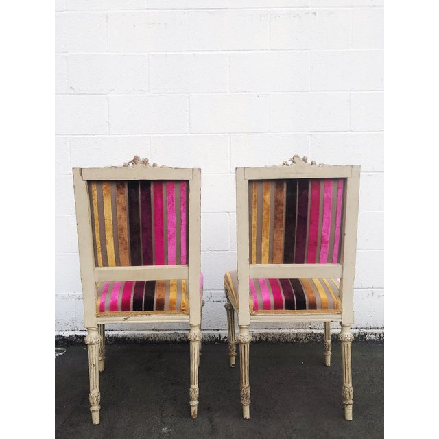 Antique French 19th Century Louis XVI Side or Hall Chairs - Set of 2 For Sale In Portland, OR - Image 6 of 11