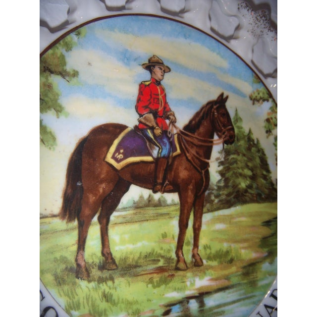 Royal Canada Hand-Painted Mounties Plates - A Pair - Image 4 of 8