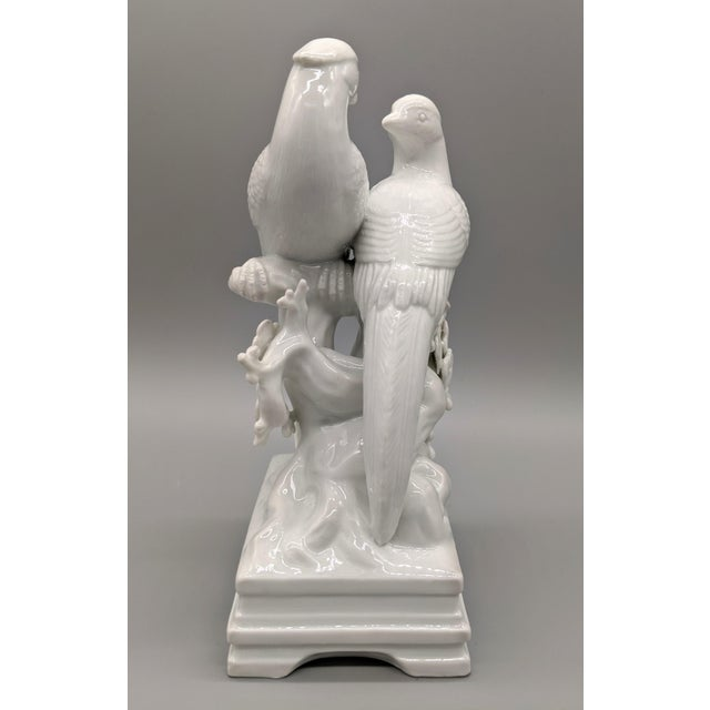 Ceramic 1970s Blanc De Chine Fitz & Floyd Birds and Flowers Figurine For Sale - Image 7 of 10