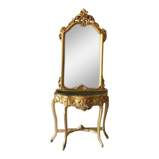 French Louis XVI Console With Mirror For Sale