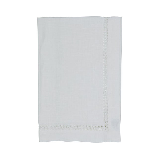 Dress up any drink with the Hibiscus Linens hemestitch cocktail napkin set. These are a perfect compliment to any get-...