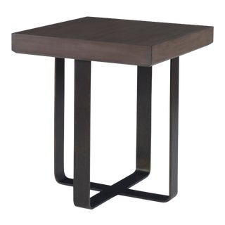 Century Furniture Baha End Table, Mink Grey For Sale