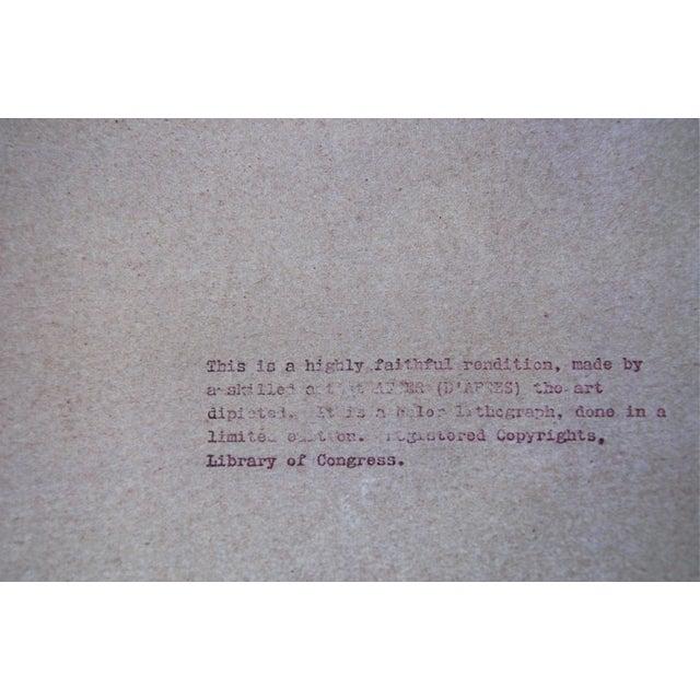 "Framed Lithograph Print ""Aristide Bruant - Ambassadeurs"" by Henri De Toulouse-Lautrec For Sale - Image 11 of 13"