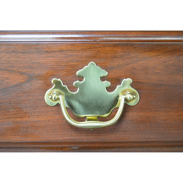 Harden Chippendale Style Solid Cherry Tall Chest For Sale - Image 10 of 13