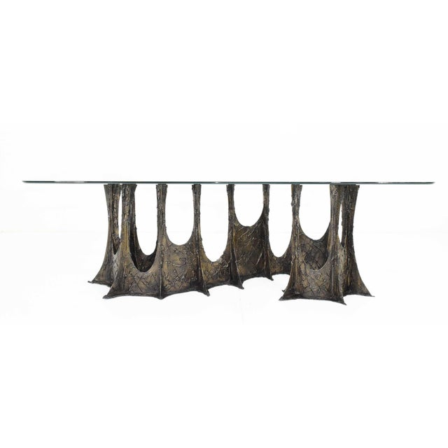 Paul Evans Brutalist Stalagmite Bronze and Resin Base Dining Table, 1972, Signed For Sale - Image 13 of 13