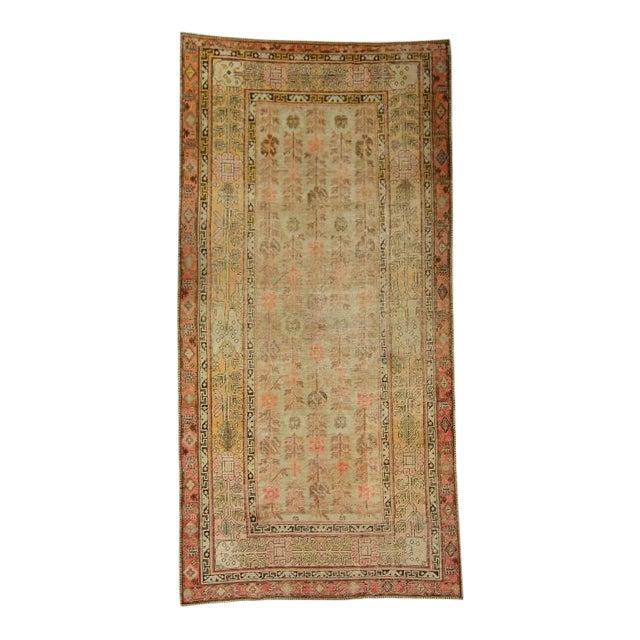 Antique East Turkistan Samarkand Rug - 5′1″ × 12′6″ For Sale