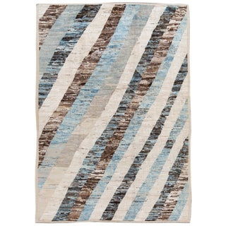 "21st Century Modern Moroccan-Style Rug, 8'8"" X 12'5"" For Sale"