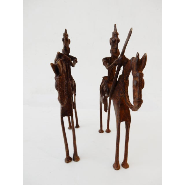 African Dogon Bronze Horseman Mali - Pair For Sale - Image 9 of 10