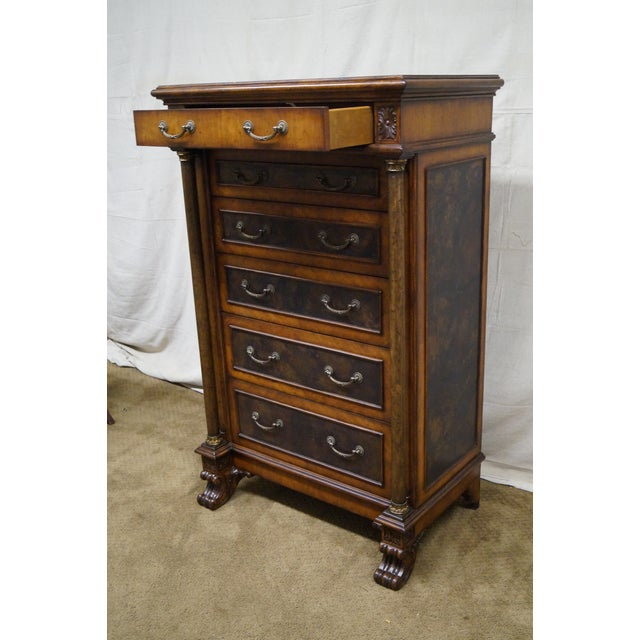 Empire Style Claw Foot Tall Chest For Sale In Philadelphia - Image 6 of 10