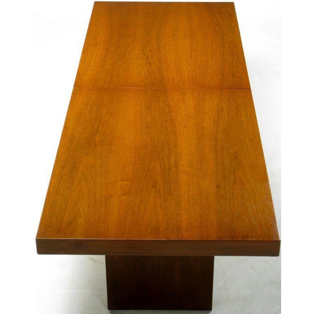 Walnut & Micarta Expanding Top Coffee Table By John Keal - Image 6 of 7