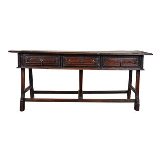 18th Century Portuguese Chestnut Table For Sale