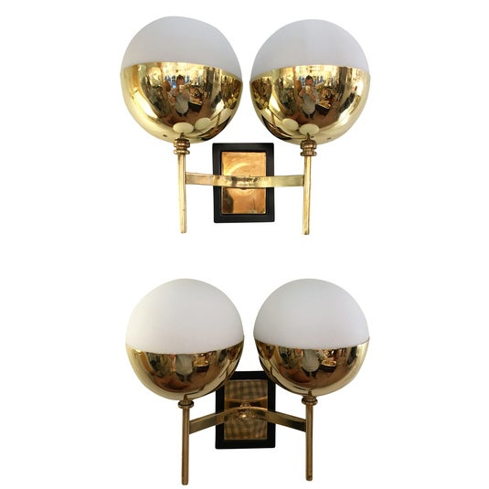 Diminutive Mid-Century Italian Sconces - a Pair For Sale In New York - Image 6 of 6