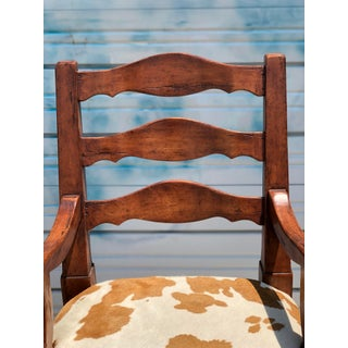 """""""Bausman & Co."""" Ladder Back Barchairs With Footrest and Cowhide Seats With Nail Heads. Preview"""
