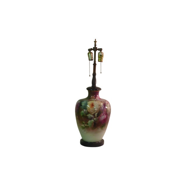 French Beaux Arts Rose Lamp - Image 1 of 4