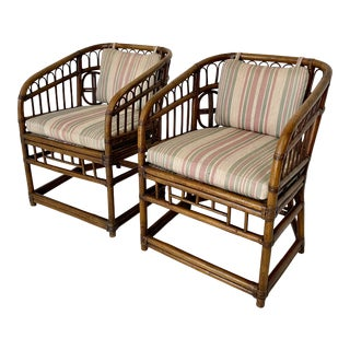 Vintage Brighton Style Rattan Chairs - a Pair For Sale