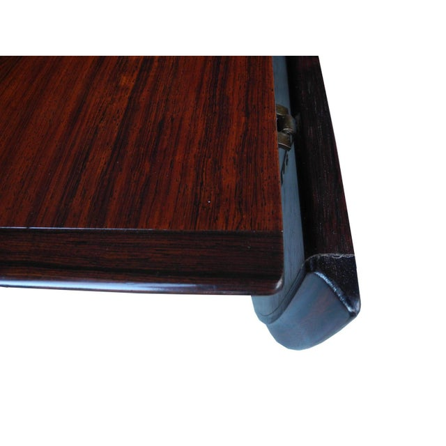Danish Modern Drop Leaf Solid Rosewood Dining Table by Henry Rosengren Hansen For Sale In New York - Image 6 of 10
