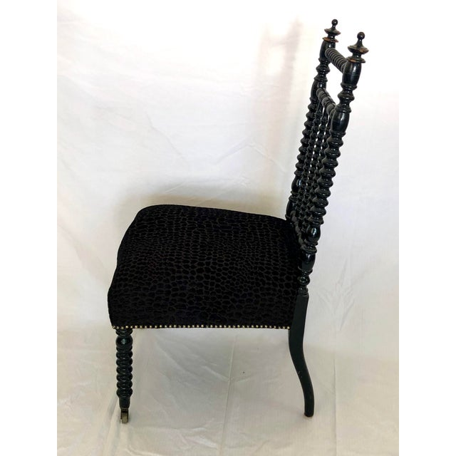 French Country Antique French Prayer Chair For Sale - Image 3 of 8