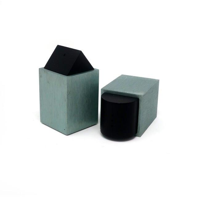 Green Post Modern Salt & Pepper by David Tisdale for Elika For Sale - Image 4 of 7