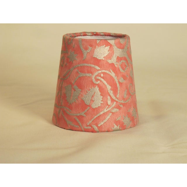 Fortuny Persimmon Fortuny Fabric Chandelier Sconce Shade For Sale - Image 4 of 4