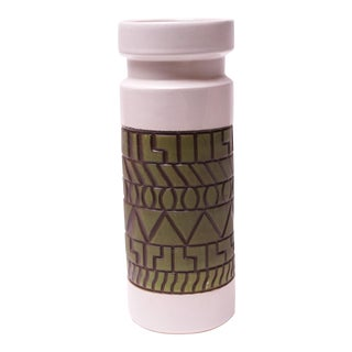 "Large Vintage Canadian Beauceware ""Chimo"" Studio Ceramic Vase For Sale"