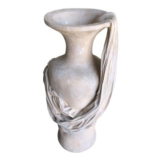 John Dickinson Style Trompe l'Oeil Drape Clay Urn For Sale