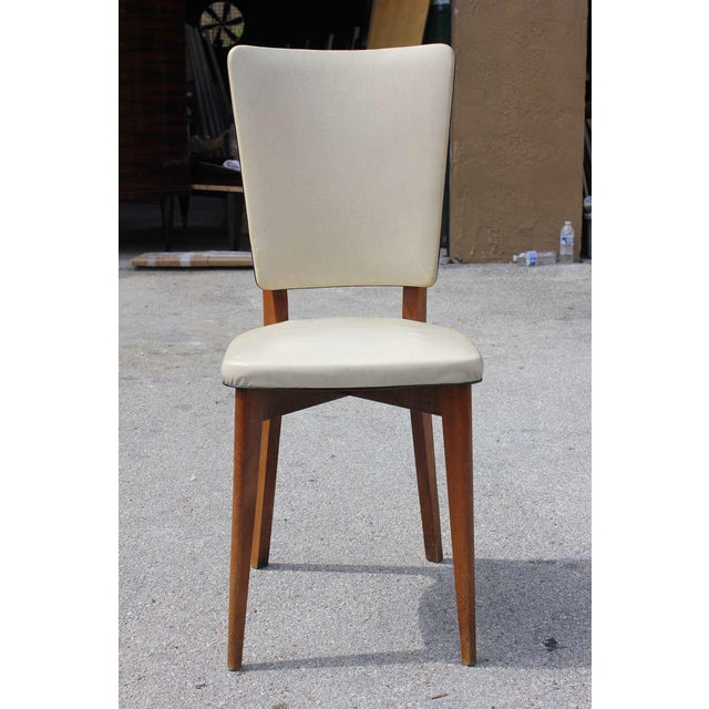 Vintage French Art Deco Mahogany Dining Chairs - Set of 6 - Image 2 of 7