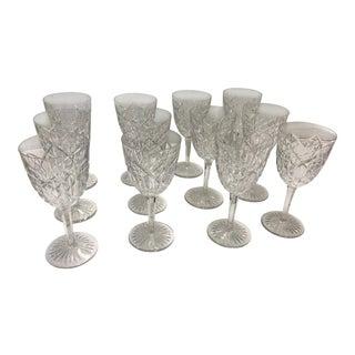 Baccarat Water Goblets Juigne Pattern Set of 12