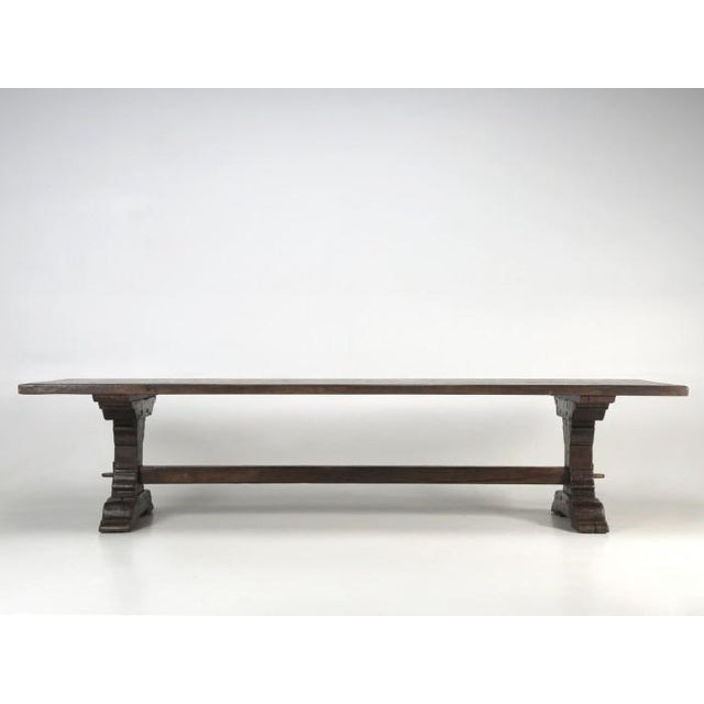Antique French Oak Trestle Dining Table For Sale - Image 10 of 13
