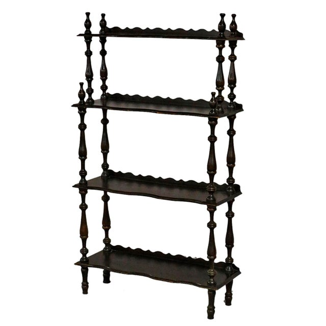 Traditional 20th Century Traditional Wooden Etagere For Sale - Image 3 of 3